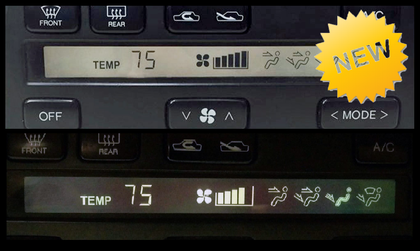 Climate Control  LCD Screens