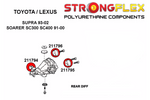 Strongflex Complete Polyurethane Bushing Kit for SC300/SC400/Soarer (Sport)