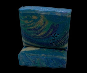 Soap Bar - Peacock Swirls