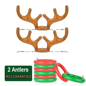 2 Antlers 12 Rings JOYIN Set of 2 Inflatable Reindeer Antler Toss Game Christmas Party-One Size Fit All