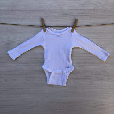 Gerber Body/Pilucho BODY BEBE BLANCO BASICO SIN BROCHES  RECIEN NACIDO