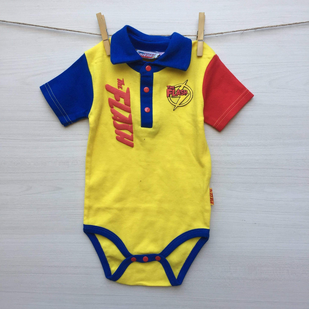 DC Super Friends Body/Pilucho BODY BEBÉ FLASH 9 A 12 MESES