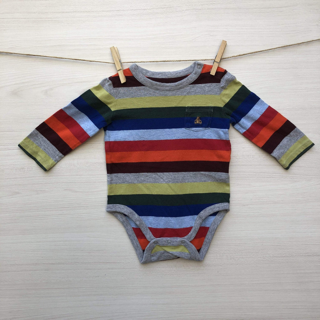 Gap Body/Pilucho Body Bebé Rayas 6 a 9 meses