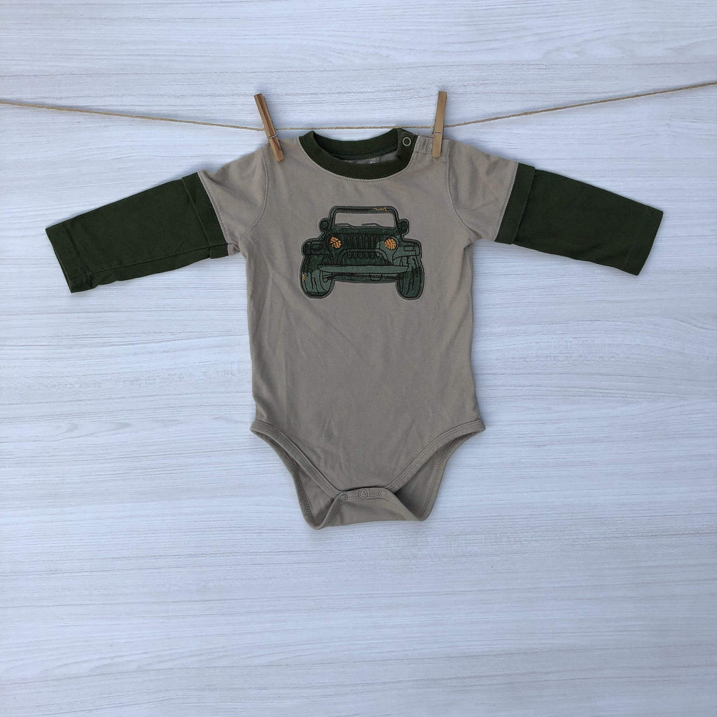 Okie Dokie Body/Pilucho BODY BEIGE JEEP 9 A 12 MESES