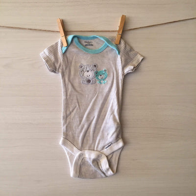Gerber Body/Pilucho BODY OSITOS BORDADOS 0 A 3 MESES