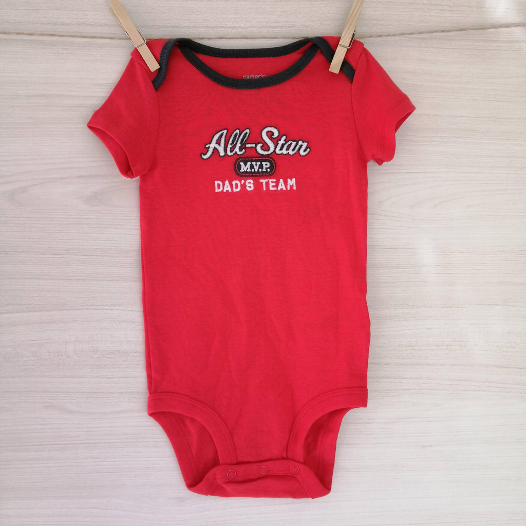 Carter's Body/Pilucho BODY ROJO ALL STAR 6 MESES