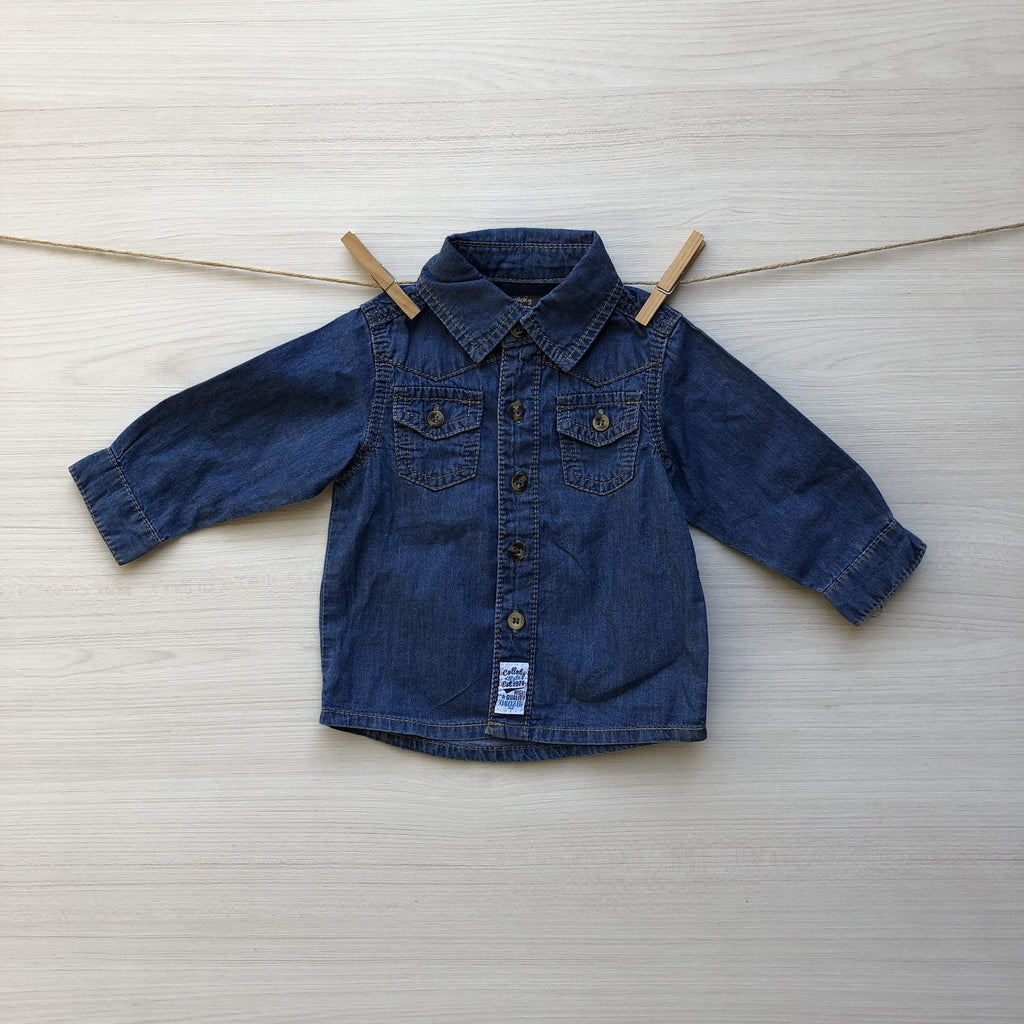 BABY COLLOKY Camisas/Poleras CAMISA BLUE JEANS 3 A 6 MESES