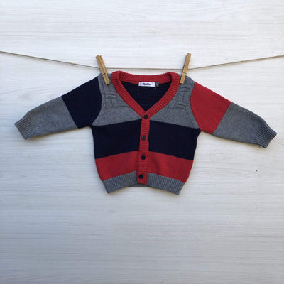 Opaline Chalecos/Sweaters CHALECO AZUL & ROJO BOTONES 3 MESES