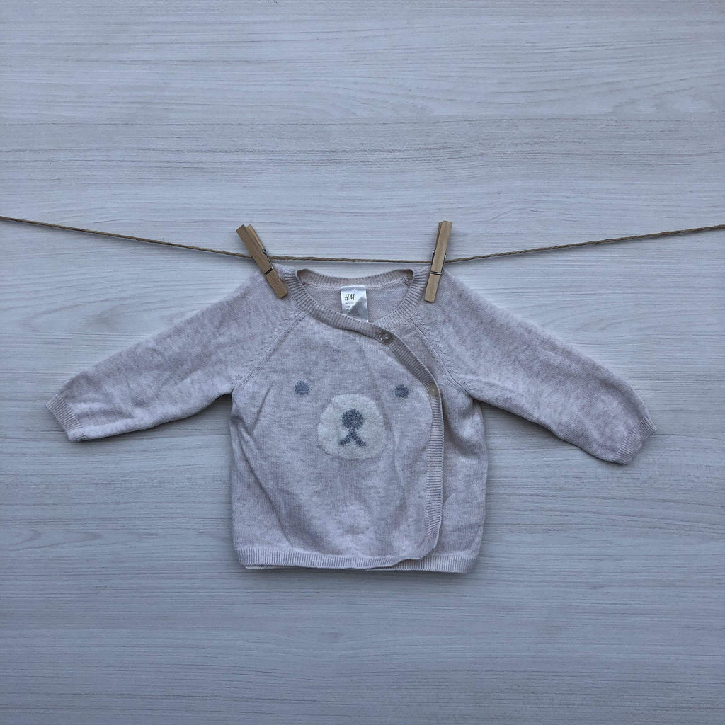 H&M Chalecos/Sweaters CHALECO BEIGE 2 A 4 MESES