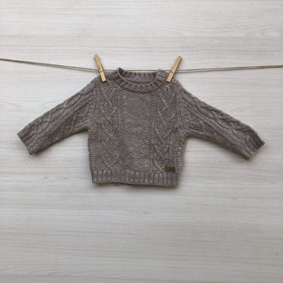Minimimo Chalecos/Sweaters CHALECO BEIGE TRENZADO 6 A 9 MESES