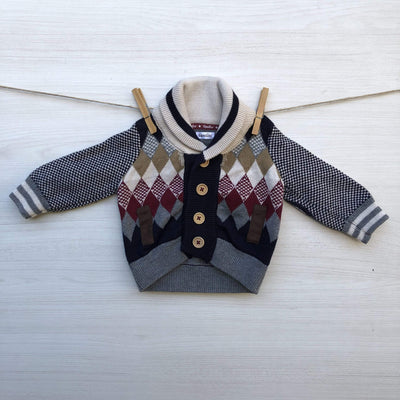 Opaline Chalecos/Sweaters CHALECO BOTONES ROMBOS 0 A 3 MESES