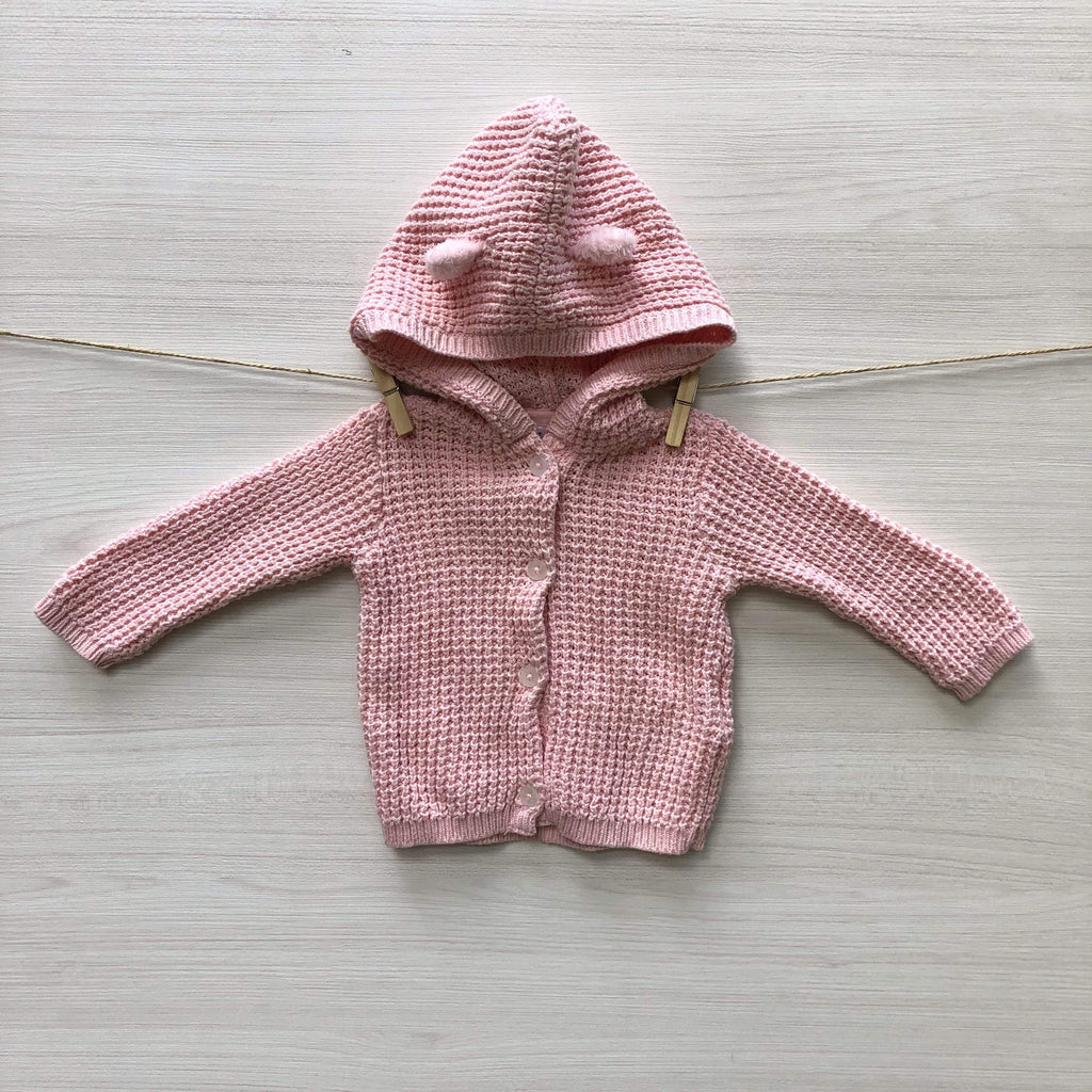 Carter's Chalecos/Sweaters CHALECO CON CAPUCHA ROSADO 0 A 3 MESES