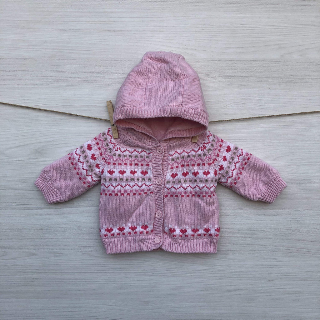 Mothercare Chalecos/Sweaters CHALECO FORRADO ROSADO 0 A 3 MESES