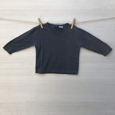 Gap Chalecos/Sweaters CHALECO GAP GRIS LISO OSITO 9 A 12 MESES