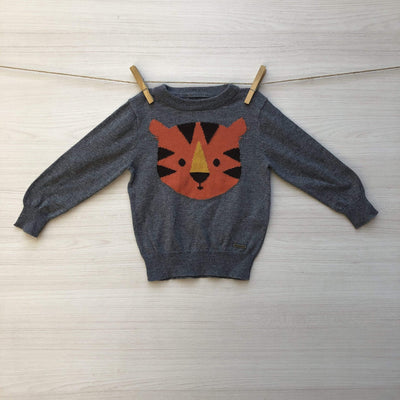 Harvest Chalecos/Sweaters CHALECO GRIS TIGRE 9 A 12 MESES
