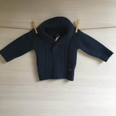 Minimimo Chalecos/Sweaters CHALECO GRUESO AZUL 6 MESES