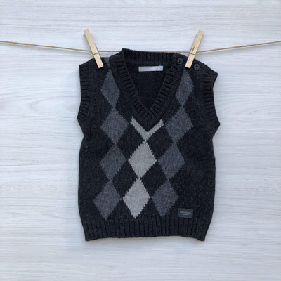 Minimimo Chalecos/Sweaters CHALECO ROMBOS SIN MANGAS 6 A 9 MESES