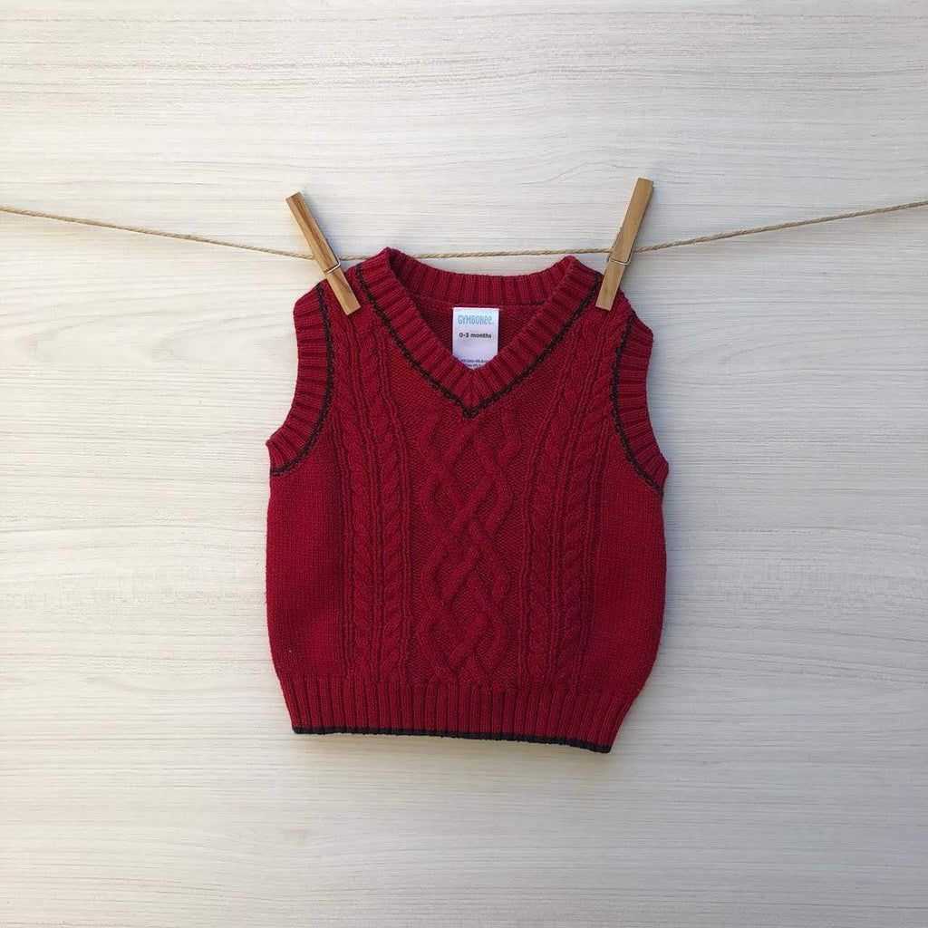 Gymboree Chalecos/Sweaters Chaleco Sin Mangas Rojo 0 a 3 meses