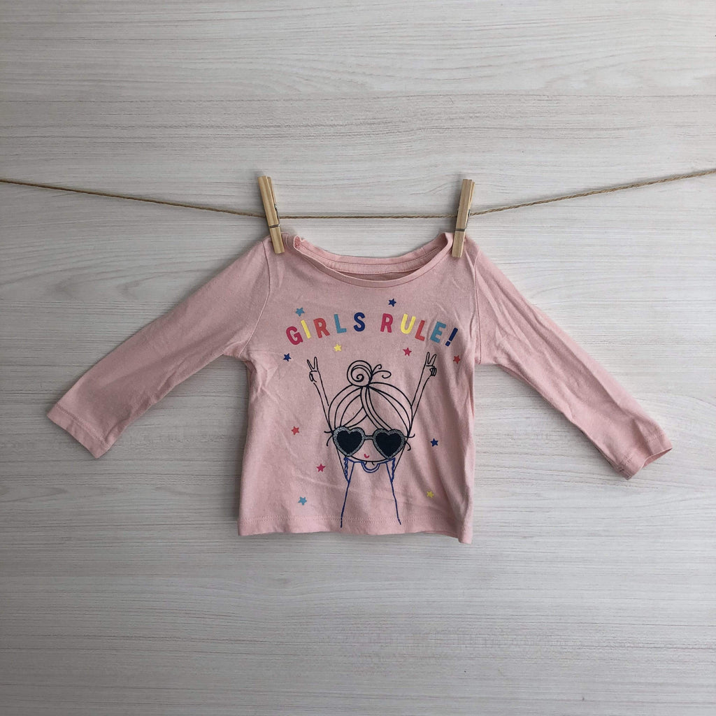 Gap Poleras/Blusas POLERA GAP GIRLS RULE! 9 A 12 MESES