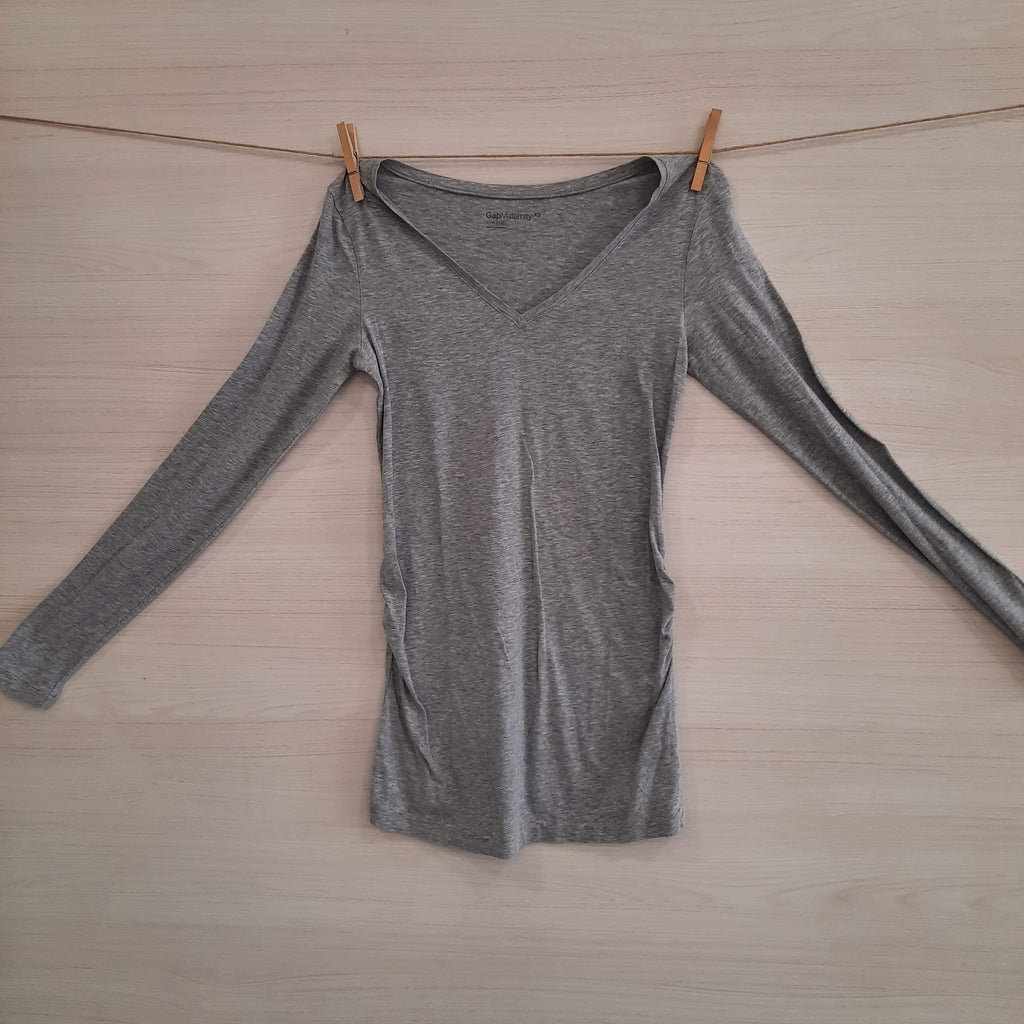 Motherhood Poleras/Blusas POLERA MATERNAL GRIS GAP MATERNITY TXS