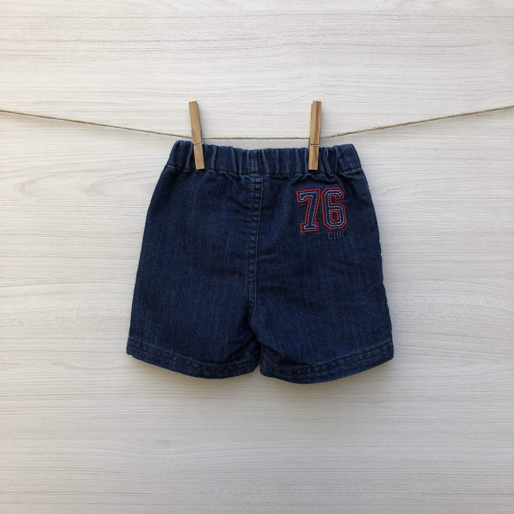 Cheeky Shorts SHORT JEANS OSCURO 3 A 6 MESES