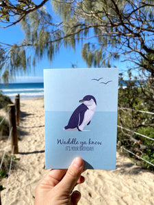 Birthday Card - Little Blue Penguin