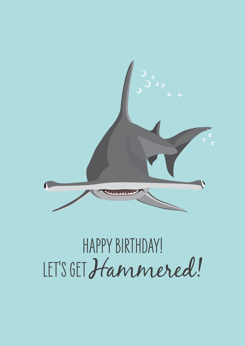 Birthday Card - Hammerhead Shark