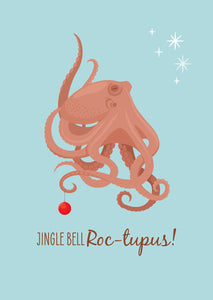 Christmas Card - Octopus Jingle Bell Roc-topus