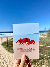 Load image into Gallery viewer, Birthday Card - Red Crab
