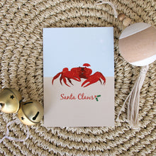 Load image into Gallery viewer, Christmas Card - Christmas Island Red Crab Santa Claws A6