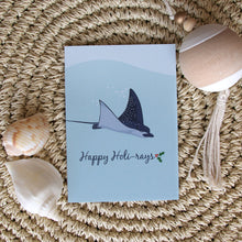 Load image into Gallery viewer, Christmas Card - Spotted Eagle Ray Happy Holi-rays A6