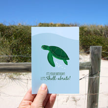 Load image into Gallery viewer, Birthday Card - Green Turtle