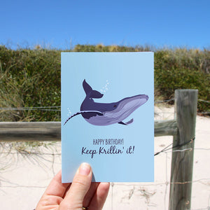 Birthday Card - Humpback Whale