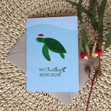 Load image into Gallery viewer, Christmas Card - Green Turtle