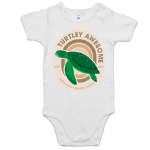 Load image into Gallery viewer, Turtley Awesome - Baby Onesie Romper
