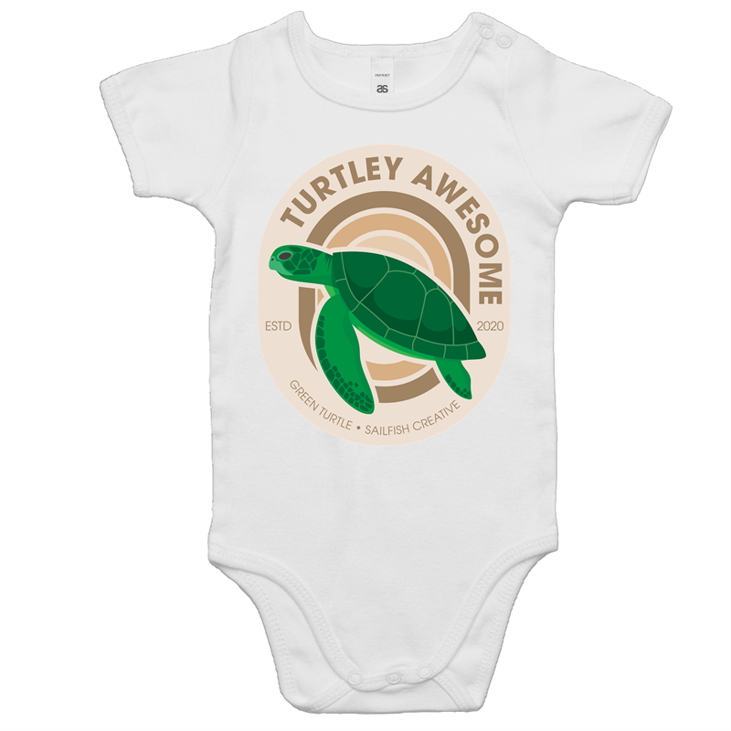Turtley Awesome - Baby Onesie Romper