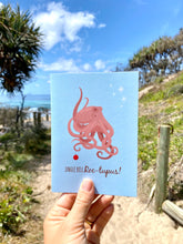 Load image into Gallery viewer, Christmas Card - Octopus Jingle Bell Roc-topus