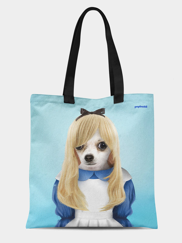 Alice in Hounderland Tote Bag