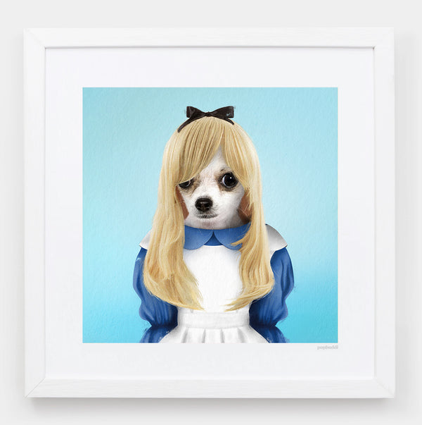 Alice in Hounderland Art Print