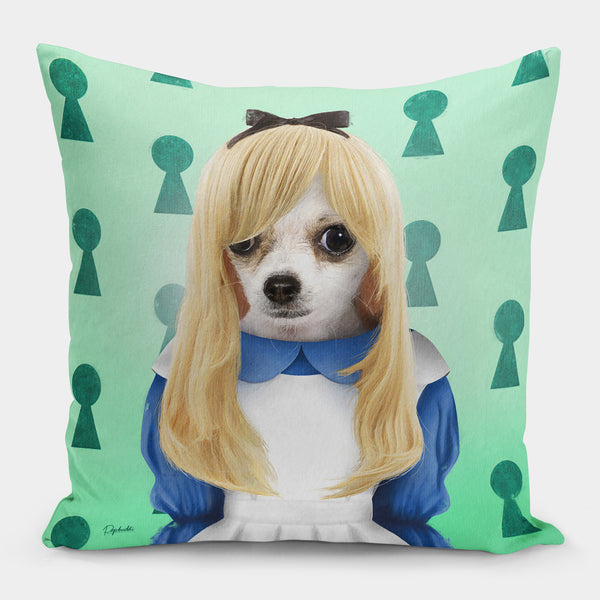 Alice in Hounderland Pillow