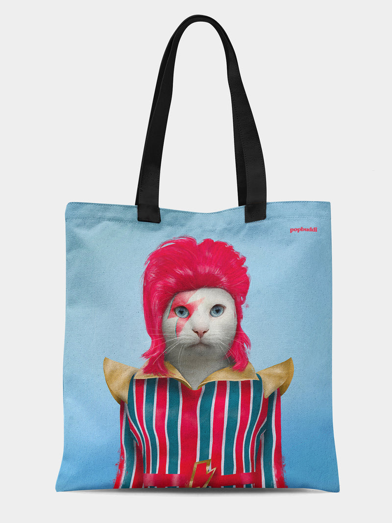 David Meowie Tote Bag