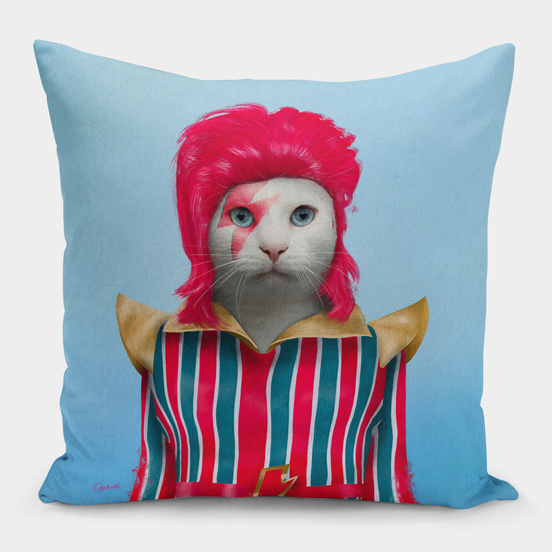 David Meowie Pillow