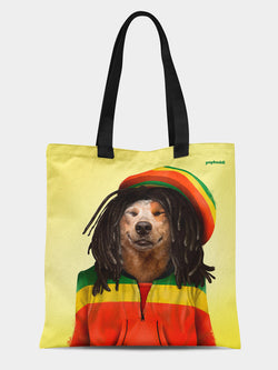 Dog Marley Tote Bag
