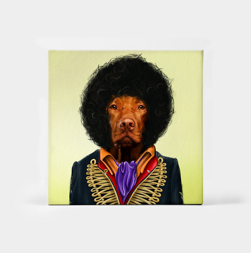 Jimi Houndrix Custom Canvas