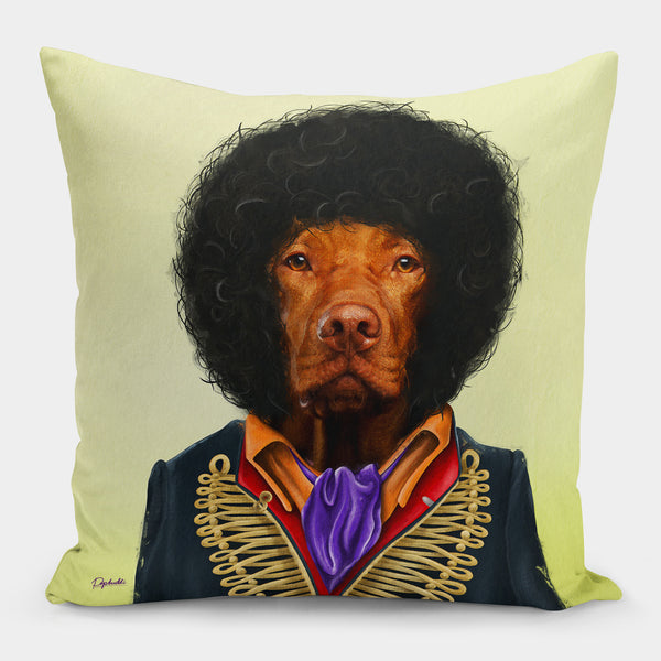 Jimi Houndrix Pillow