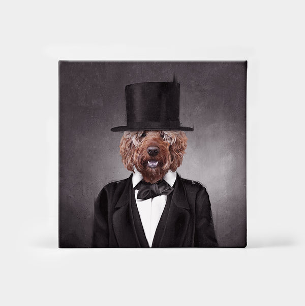 Pawbraham Lincoln Custom Canvas