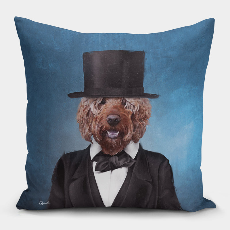 Pawbraham Lincoln Pillow