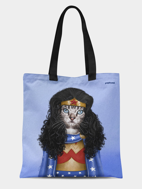 Meownder Woman Tote Bag
