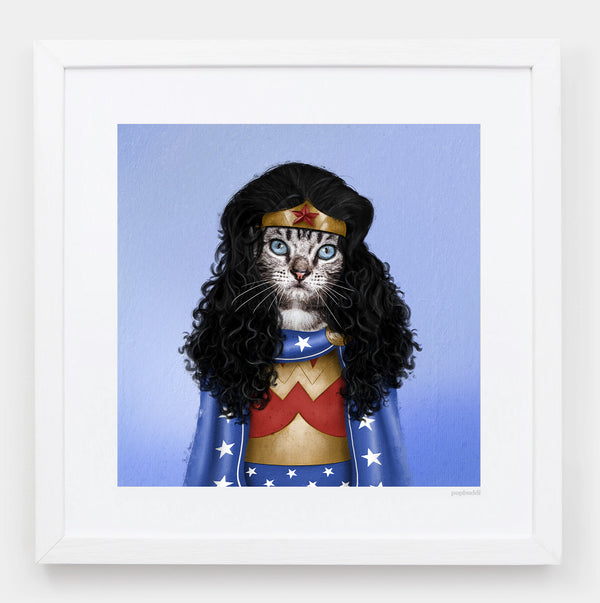 Meownder Woman Art Print