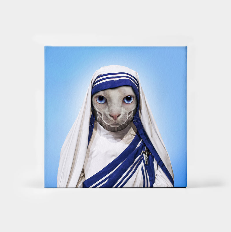 Mother Purresa Custom Canvas